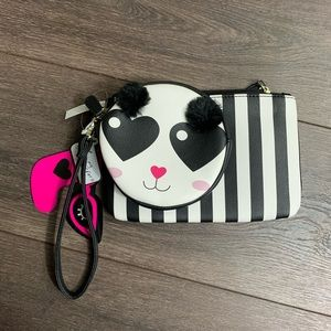 Luv Betsey Johnson Wristlet Combo Coin Purse